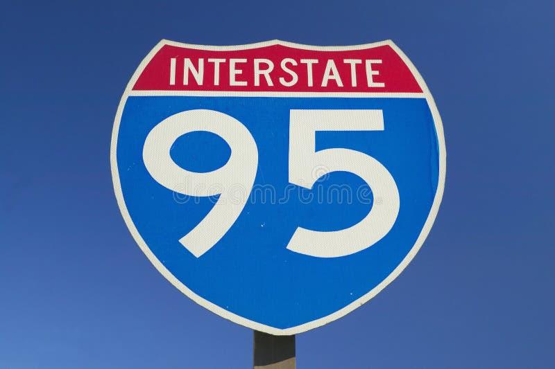 Schließen Sie oben von Autobahn 95 lizenzfreies stockfoto