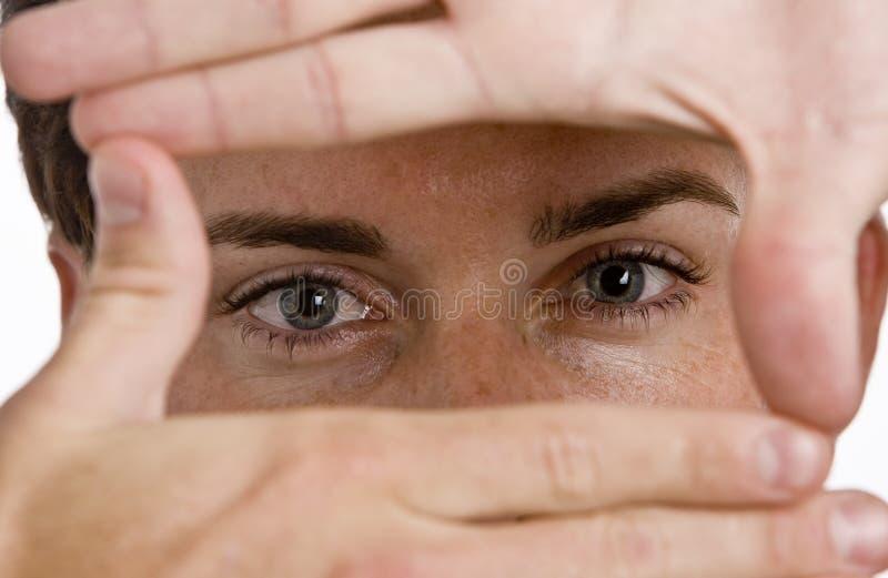 Schließen Sie oben von den Augen stockfotos