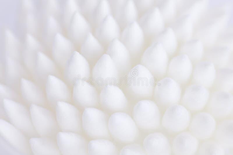 Schließen Sie oben von den Baumwollknospenköpfen und die Weichfasern zeigen lizenzfreie stockbilder