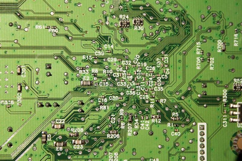 Schließen Sie oben von den elektronischen Schaltungen in der Technologie stockfotografie