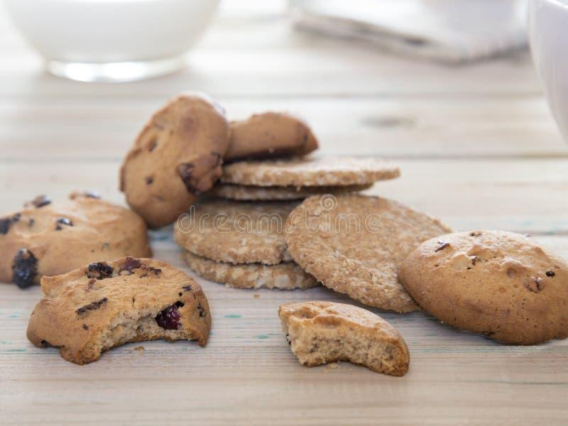 Schließen Sie oben von den Keksen, um zu frühstücken lizenzfreie stockbilder