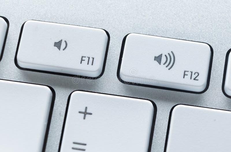 Schließen Sie oben von den Tasten der Computertastatur lizenzfreie stockbilder