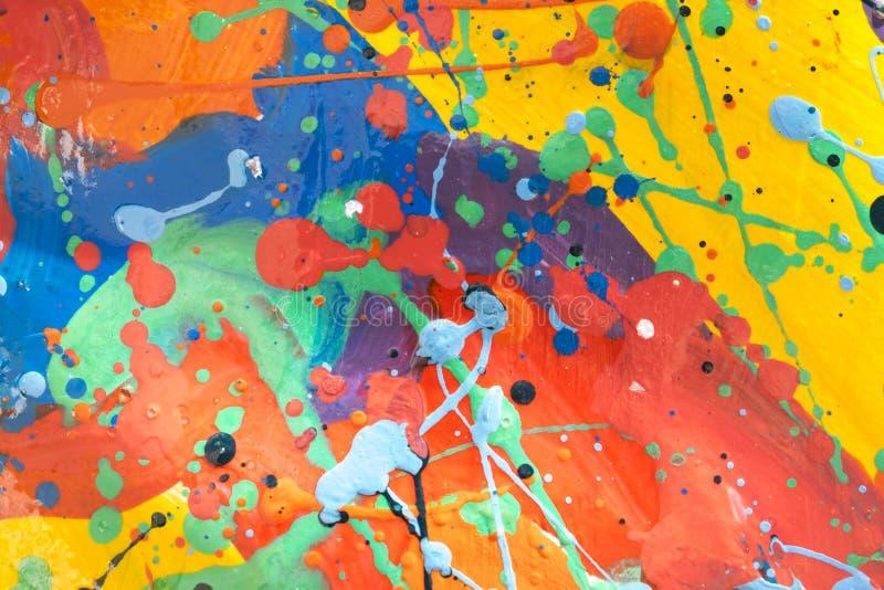 Schließen Sie oben von der bunten einfach abstrakten Malerei lizenzfreie stockfotografie
