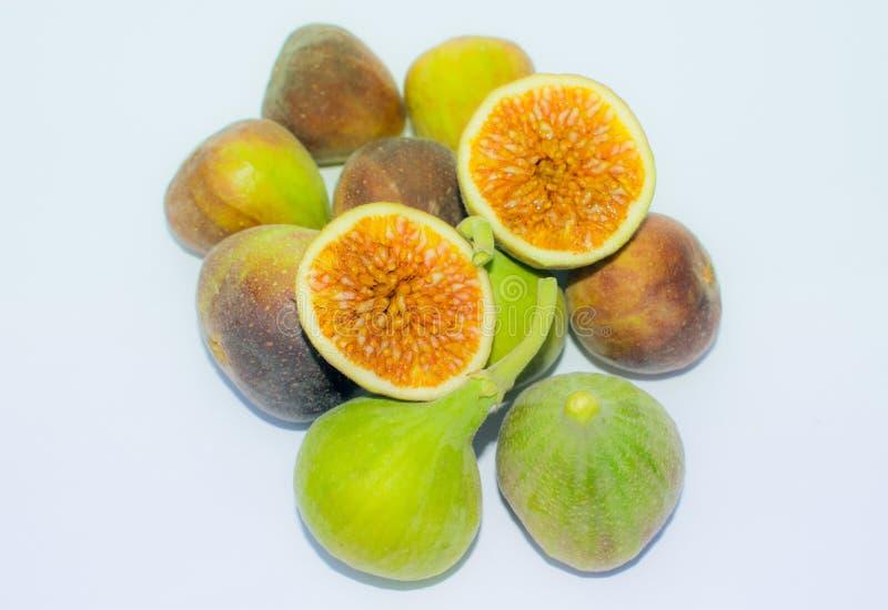 Schließen Sie oben von der frischen lokalisierten Feigenfrucht lizenzfreies stockbild