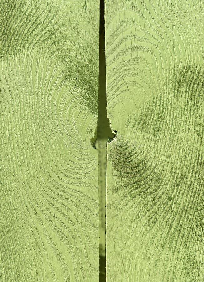Schließen Sie oben von der hölzernen Beschaffenheit gemalt grün stockfotos