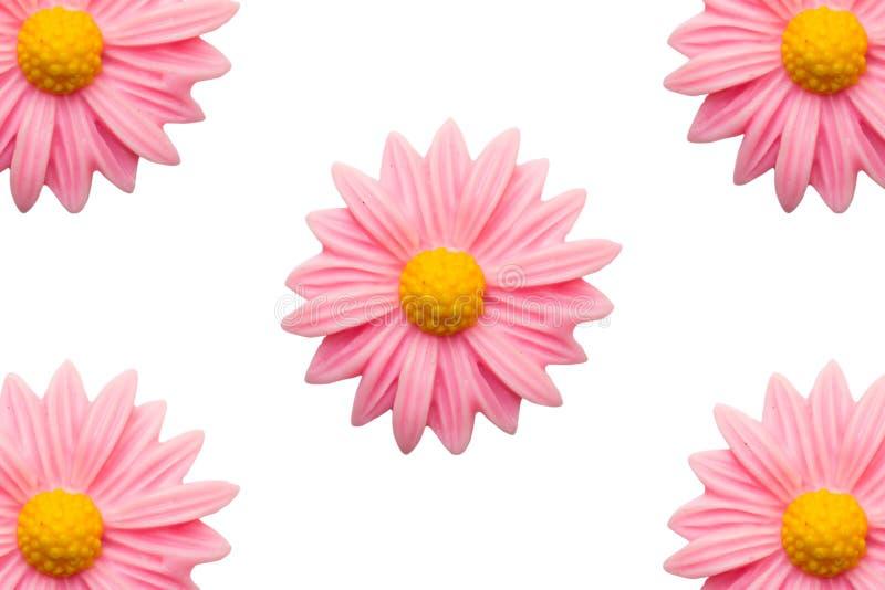 Schließen Sie oben von der rosa Plastikblume stockfoto