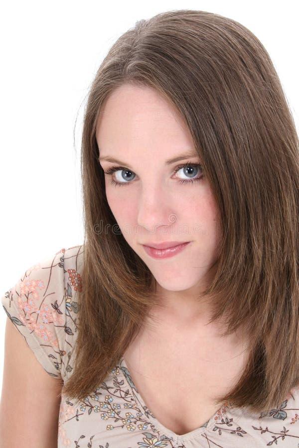 Schließen Sie oben von der schönen Zwanzig Einjahresfrau lizenzfreie stockfotos