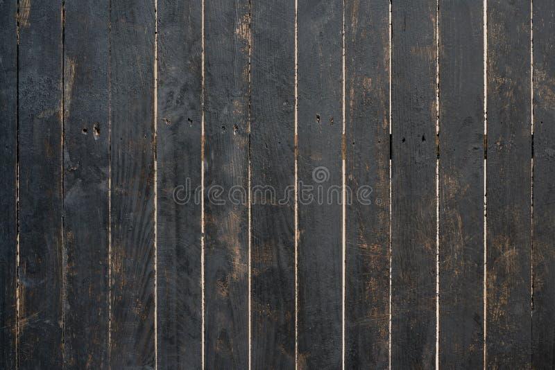 Schließen Sie oben von der schwarzen alten hölzernen Wandbeschaffenheit stockbild