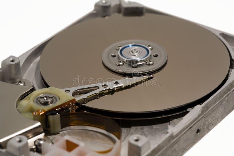 Schließen Sie oben von einem internen Festplattenlaufwerk des Computers lizenzfreie stockbilder