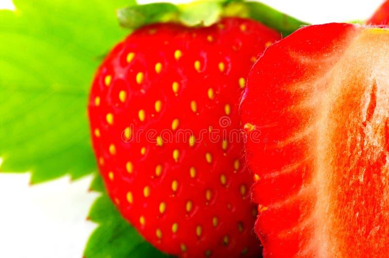 Schließen Sie oben von einer Erdbeere stockbild