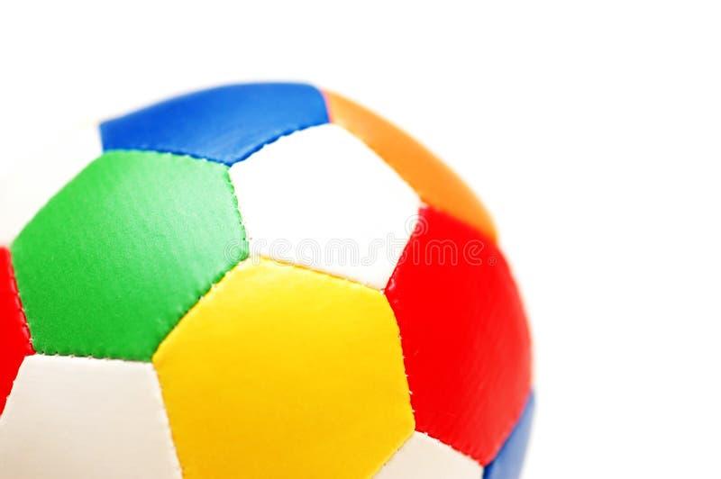Schließen Sie oben von farbigem Fußball stockfotos