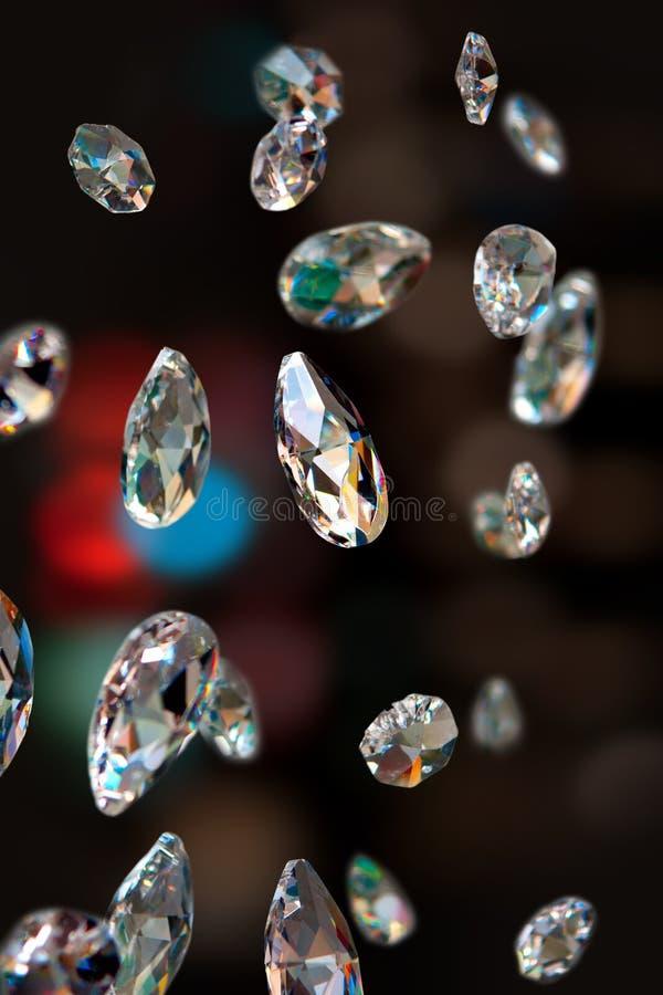 Funkelnde Diamanten stockbilder