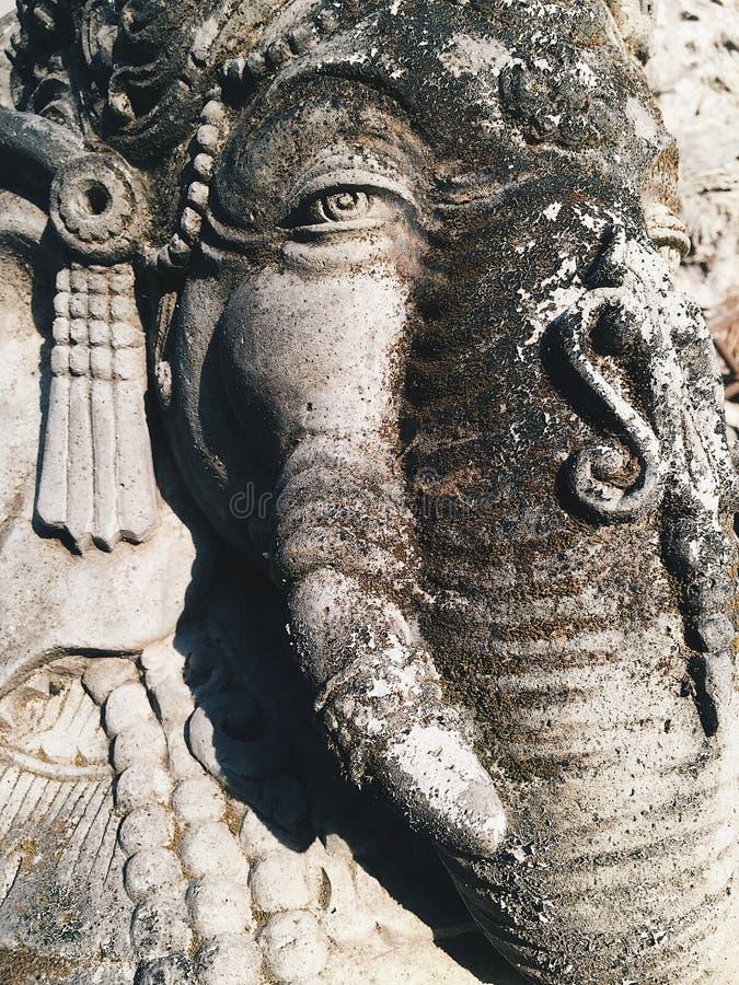 Schließen Sie oben von hindischem Gott Ganesha Lord von Klugheit stockfotos