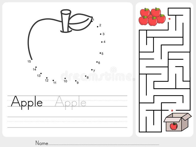 Schließen Sie Punkte An Und Wählen Sie Apfelkasten-Labyrinthspiel ...