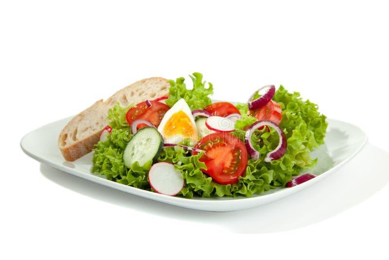 Schließen Sie Salat-Platte ab stockbild