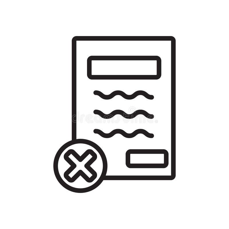 Schließen Sie Vertrag Ikonenvektors ab, der auf weißem Hintergrund, Vertragszeichen lokalisiert wird lizenzfreie abbildung