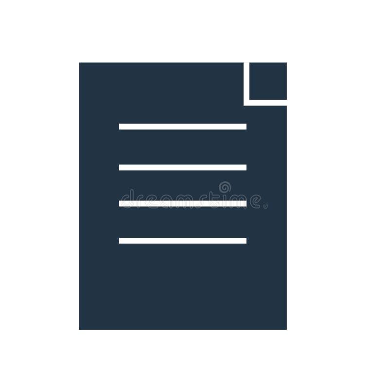 Schließen Sie Vertrag Ikonenvektors ab, der auf weißem Hintergrund, Vertragszeichen lokalisiert wird stock abbildung