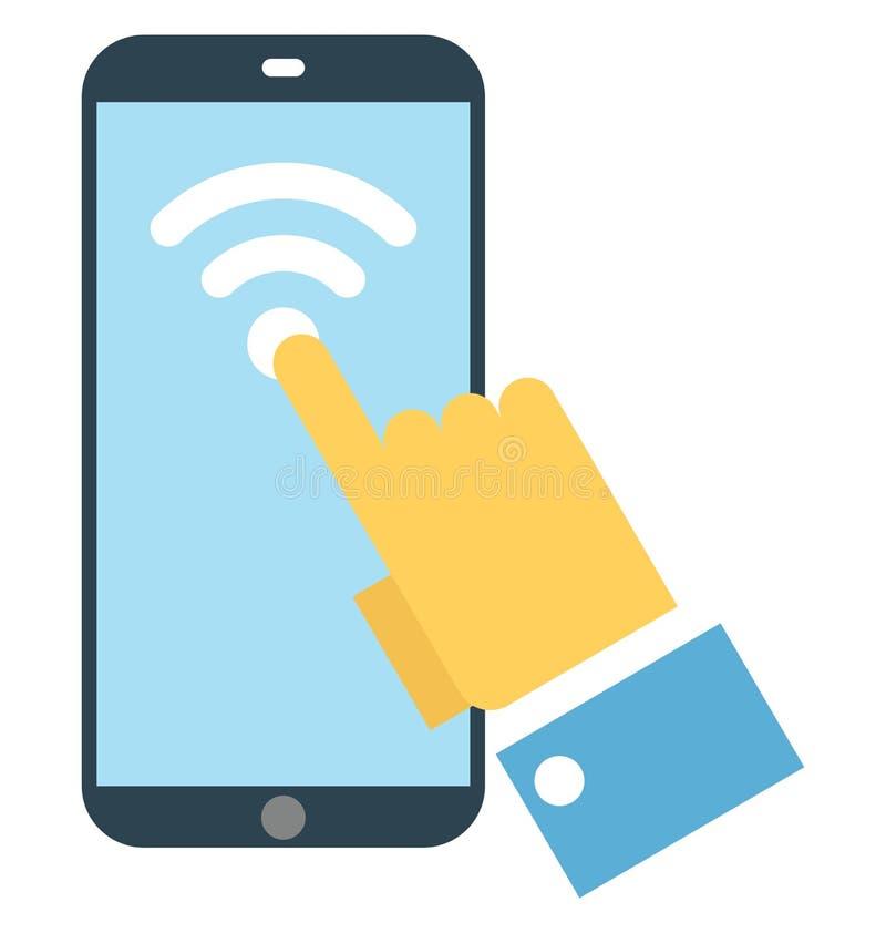 Schließen Sie wifi an, das bewegliche lokalisierte Breitband, das leicht sein kann redigieren oder änderte vektor abbildung