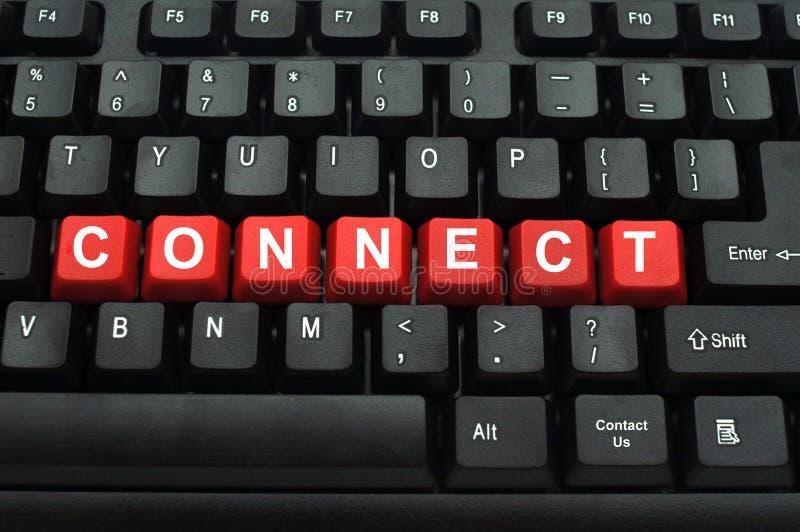 Schließen Sie Wort auf schwarzer Tastatur an lizenzfreies stockfoto