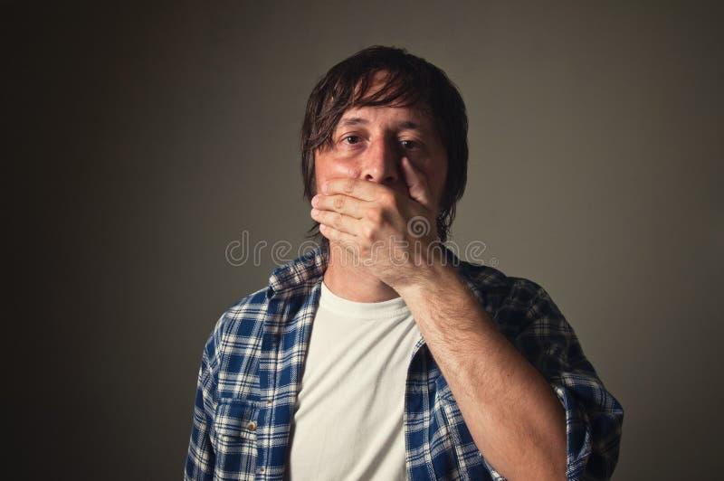 Schließender Mund stockfoto