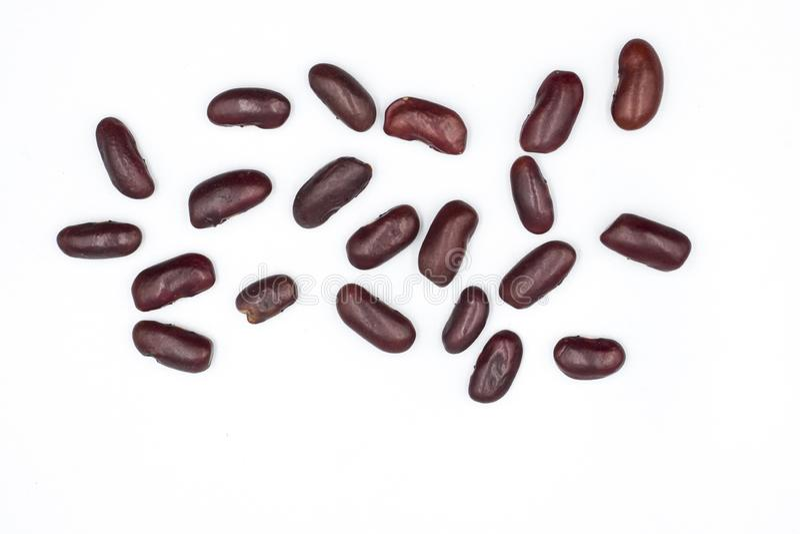 Schlie?en Sie herauf Hintergrund der roten Bohnen, Samen der roten Bohnen stockbilder