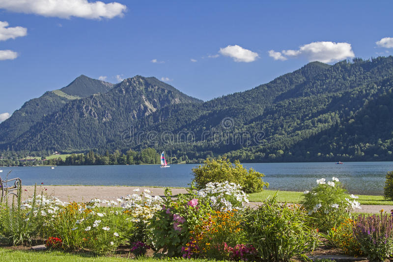 Schliersee - idyllic alpine lake in Upper Bavaria stock photography
