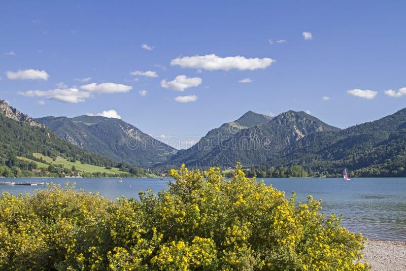 Schliersee - idyllic alpine lake in Upper Bavaria royalty free stock photo