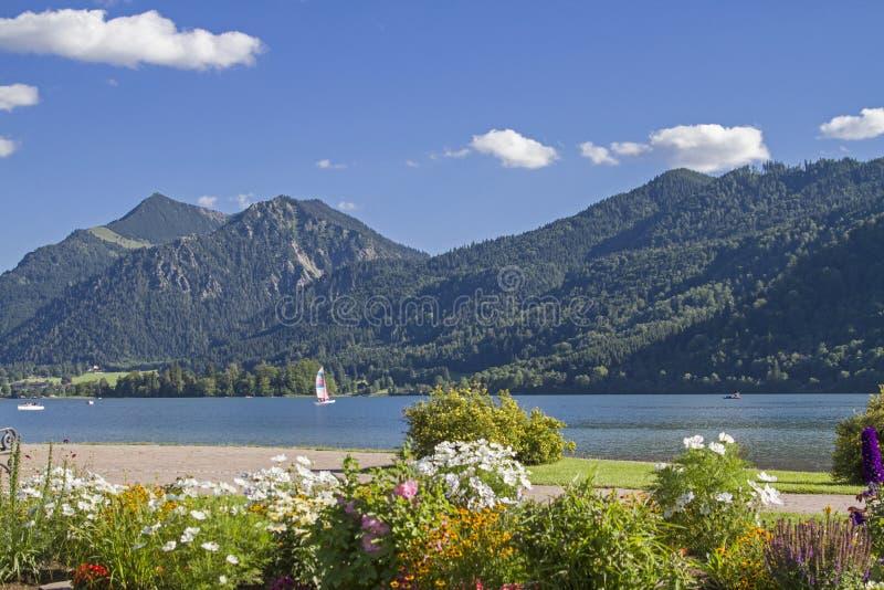 Schliersee - idyllic alpine lake in Upper Bavaria stock photos