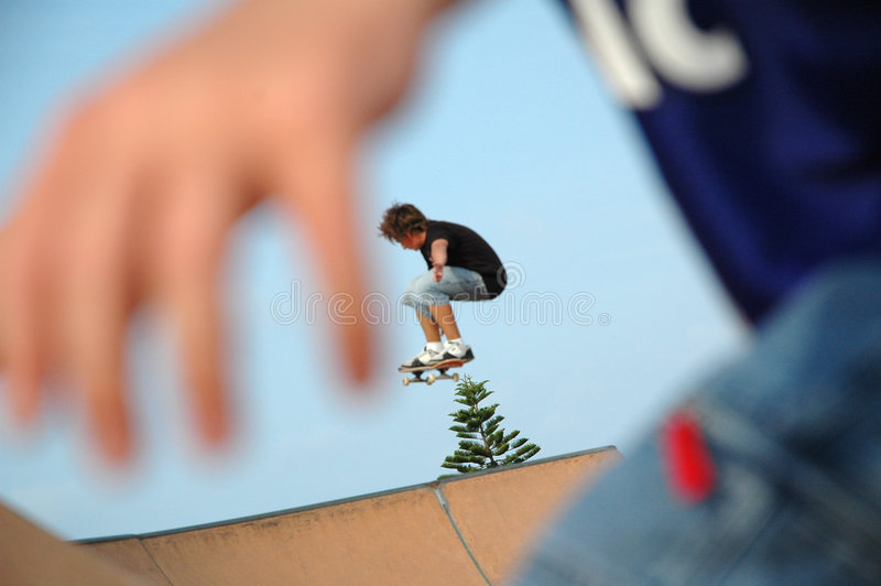 Schlittschuhläufer Stockfotografie