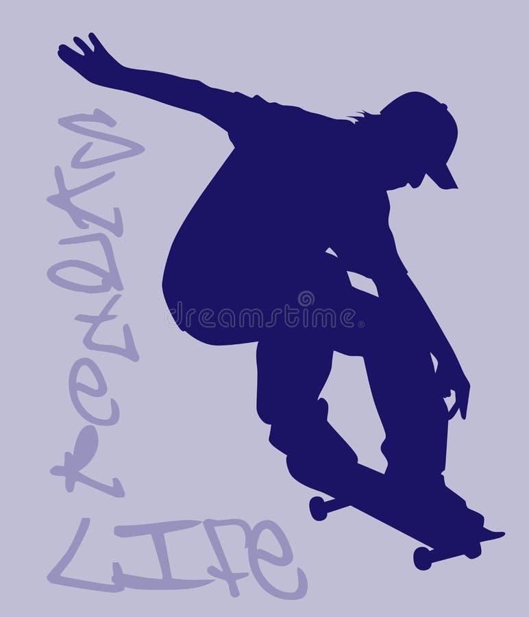 Schlittschuhläufer-Leben lizenzfreie abbildung