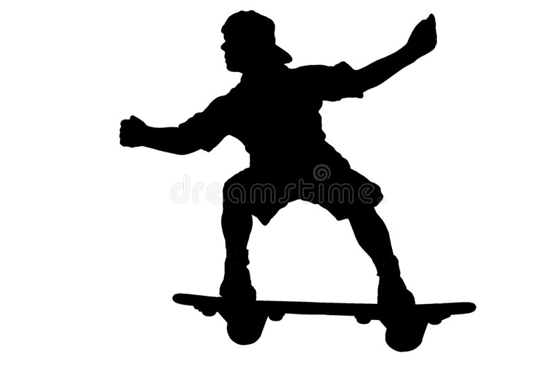 Schlittschuhläuferschattenbild vektor abbildung
