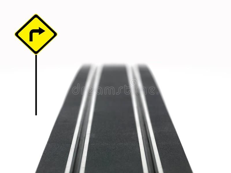 Schlitz-Auto-Spur stockfoto