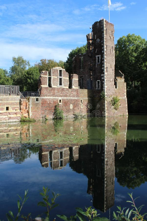Schlitz Schaesberg, Landgraaf, die Niederlande stockbild