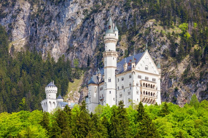 Schloss新天鹅堡城堡,德国 库存图片