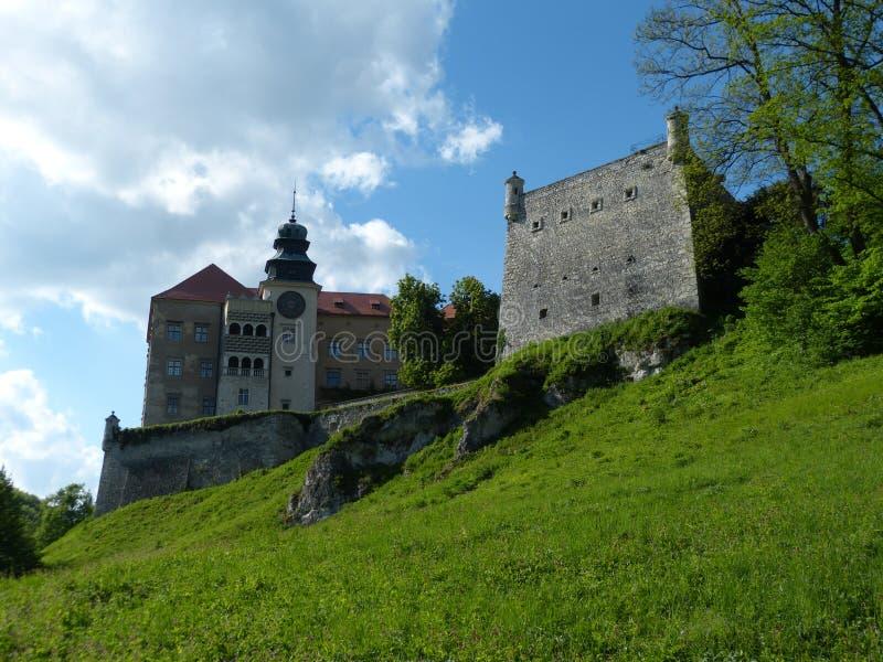 Schloss in 'a Pieskowa SkaÅ stockbilder