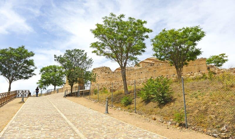 Schloss Alarcos bei Ciudad Real, Castilla la Mancha, Spanien lizenzfreies stockfoto