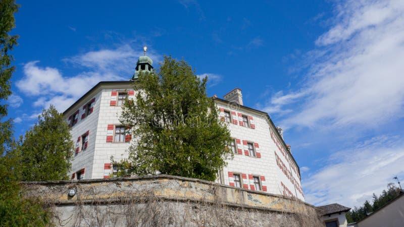 Schloss Ambras在因斯布鲁克 库存图片