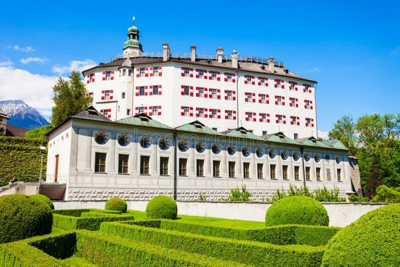 Schloss Ambras城堡,因斯布鲁克 免版税库存照片