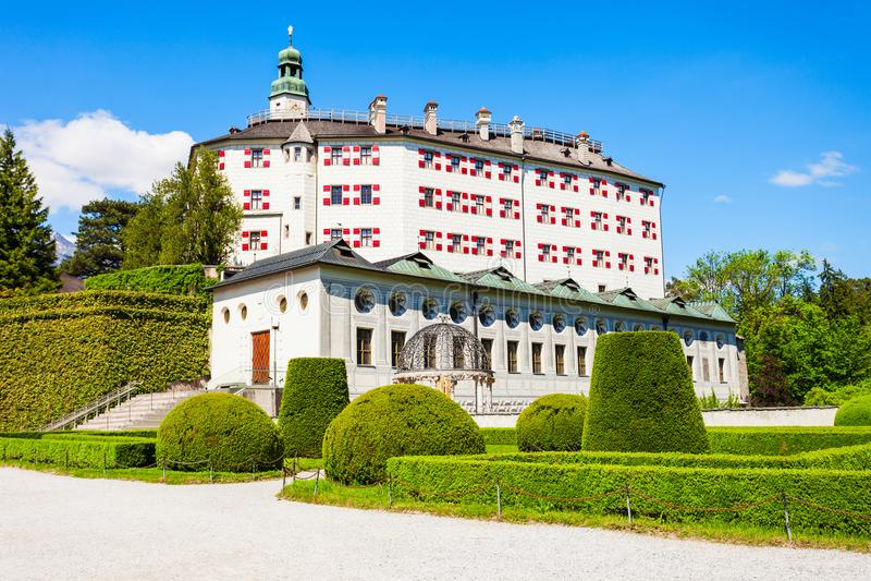 Schloss Ambras城堡,因斯布鲁克 库存图片