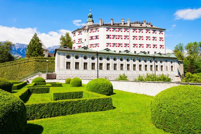 Schloss Ambras城堡,因斯布鲁克 库存照片