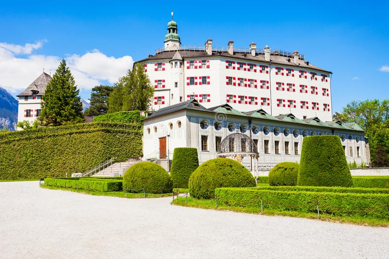 Schloss Ambras城堡,因斯布鲁克 免版税图库摄影