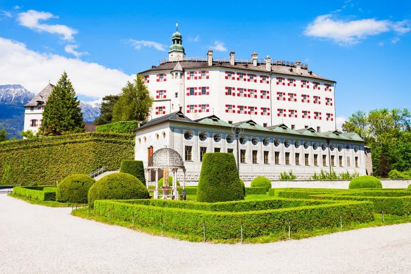 Schloss Ambras城堡,因斯布鲁克 免版税库存图片