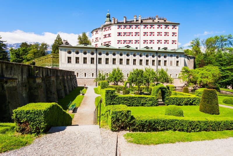 Schloss Ambras slott, Innsbruck arkivfoton