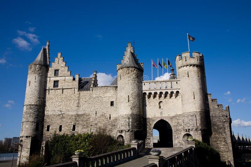 Schloss, Antwerpen, Belgien stockbild