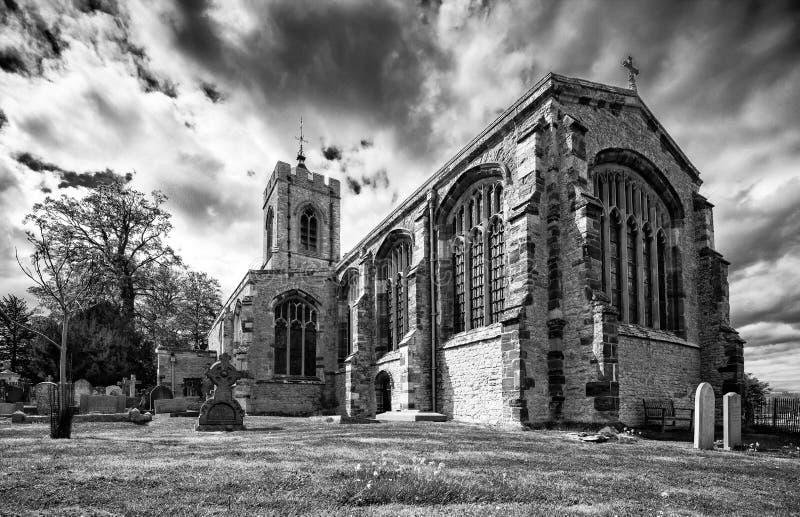 Schloss Ashby Church lizenzfreie stockbilder