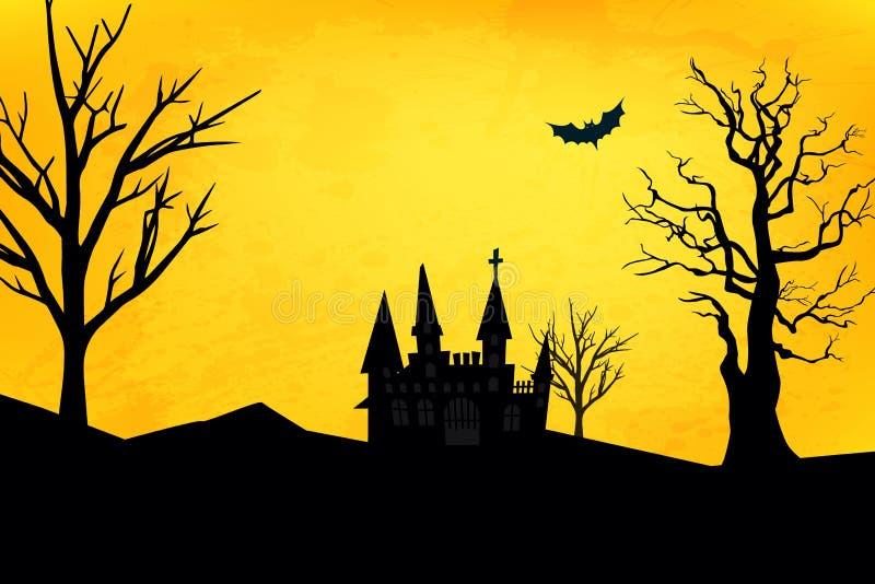 Schloss auf Halloween lizenzfreie stockbilder