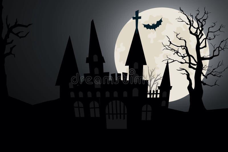Schloss auf Halloween lizenzfreie stockfotografie