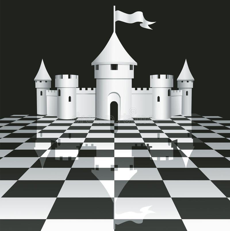 Schloss auf Schachbrett vektor abbildung