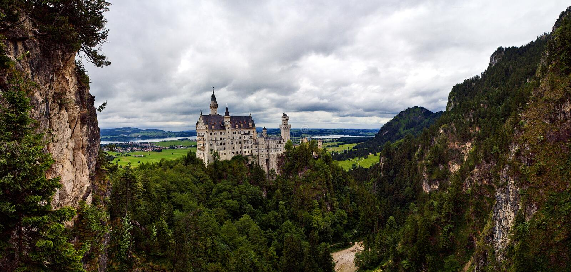 Schloss Bautifull Neuschwanstein im Bayern lizenzfreies stockfoto