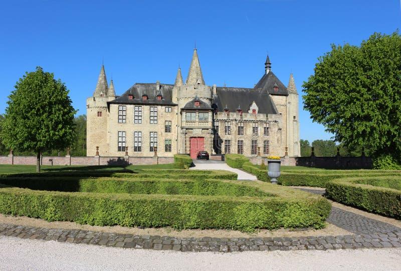 Schloss Belgien Europa Kasteel van Laarne lizenzfreies stockfoto